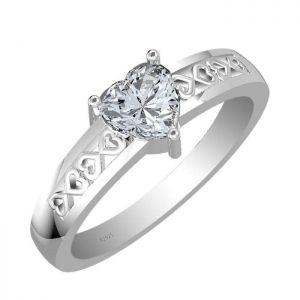 1.00ctw Genuine Aquamarine Solid 925 Sterling Silver Gemstone Ring (SJR10250)