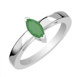 0.65ctw Genuine Emerald Solid 925 Sterling Silver Gemstone Ring (SJR10254)