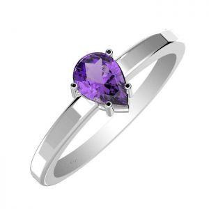 0.85ctw Genuine Amethyst Solid 925 Sterling Silver Gemstone Ring (SJR10257)