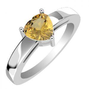 1.00ctw Genuine Citrine Solid 925 Sterling Silver Gemstone Ring (SJR10258)