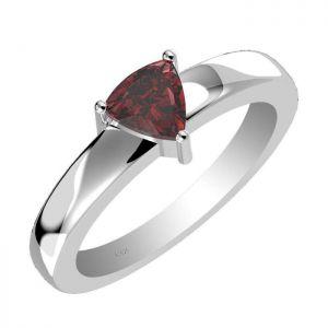 1.00ctw Genuine Garnet Solid 925 Sterling Silver Gemstone Ring (SJR10260)