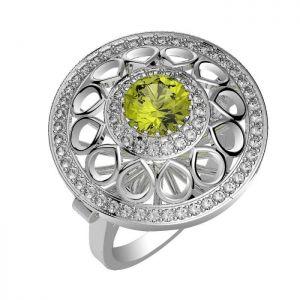 1.90ctw Genuine Peridot Solid 925 Sterling Silver Gemstone Ring (SJR10263)