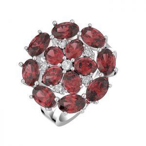 6.90ctw Genuine Garnet Solid 925 Sterling Silver Gemstone Ring (SJR10264)