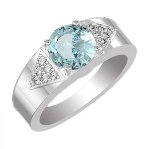 1.90ctw Genuine Swiss Blue Topaz Solid 925 Sterling Silver Gemstone Ring (SJR10268)