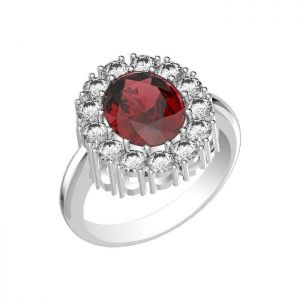 5.85ctw Genuine Garnet Solid 925 Sterling Silver Gemstone Ring (SJR10271)