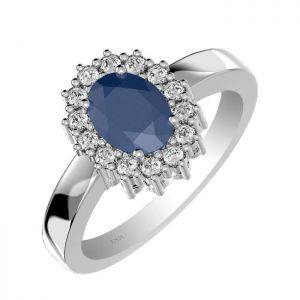 1.40ctw Genuine Sapphire Solid 925 Sterling Silver Gemstone Ring (SJR10278)
