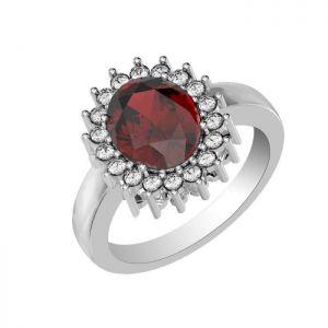 3.90ctw Genuine Garnet Solid 925 Sterling Silver Gemstone Ring (SJR10282)