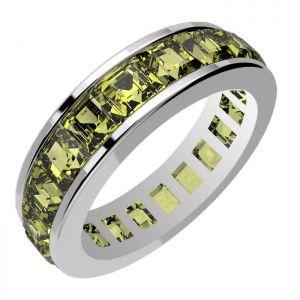 5.00ctw Genuine Peridot Solid 925 Sterling Silver Gemstone Ring (SJR10288)