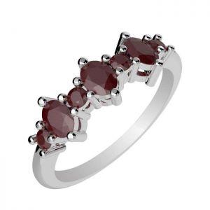 1.10ctw Genuine Ruby Solid 925 Sterling Silver Gemstone Ring (SJR10296)