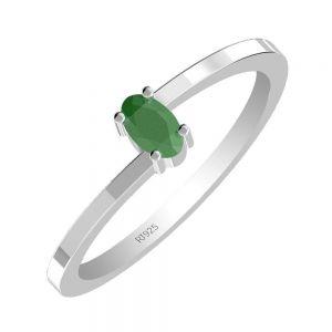 0.35ctw Genuine Sapphire Solid 925 Sterling Silver Gemstone Ring (SJR1089)